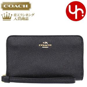 4c760aee3545 コーチ COACH 財布 二つ折り財布 F58053 ブラック 特別送料無料 コーチ ラグジュアリー クロスグレーン レザー ジップ フォン ウォレット  アウトレット品激安 レディ.