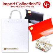 インポートコレクション トートバッグ ホワイト ゴールド オリジナル ショップ ショッパー レディース ブランド
