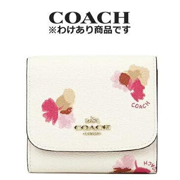 コーチ COACH レディース 財布 三つ折り財布 F53758 LIF2N(チョーク×フィールドフローラル 花柄)【FKS】