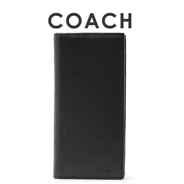 75f475b30eda コーチ COACH メンズ 長財布 F75009 BLK(ブラック)【FKS】 コーチならではの高級感と上品さを兼ね備えた、上質レザーのメンズ長財布·