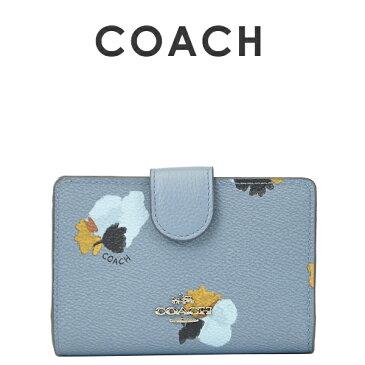 コーチ COACH レディース 財布 二つ折り財布 F53841 SVEB6(コーンフラワーマルチ)