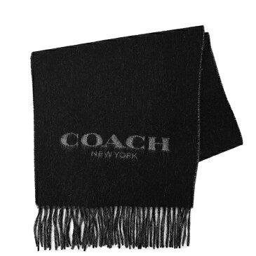 コーチ COACH メンズ 送料無料 マフラー F86542 BLK(ブラック)【FKS】