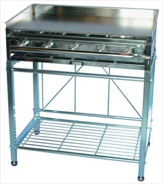 荒木金属製作所 台付鉄板焼 AK−2A LPガス 6-0895-0204 GTT014