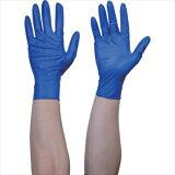 トラスコ中山(株) TRUSCO 使い捨て天然ゴム手袋TGセーフ 0.12 粉無青L 100枚 [ TGNL12BL ]