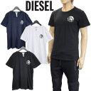 ディーゼル DIESEL Tシャツ 3枚セット クルーネック ブレイブマンロゴ SJ5L-0TANL UMTEE-RANDAL-02 ネイビー ホワイト ブラック【サマーセール】