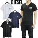 ディーゼル DIESEL Tシャツ 3枚セット Vネック ブレイブマンロゴ SHGU-0TANL UMTEE-MICHAEL-02 ネイビー ホワイト ブラック