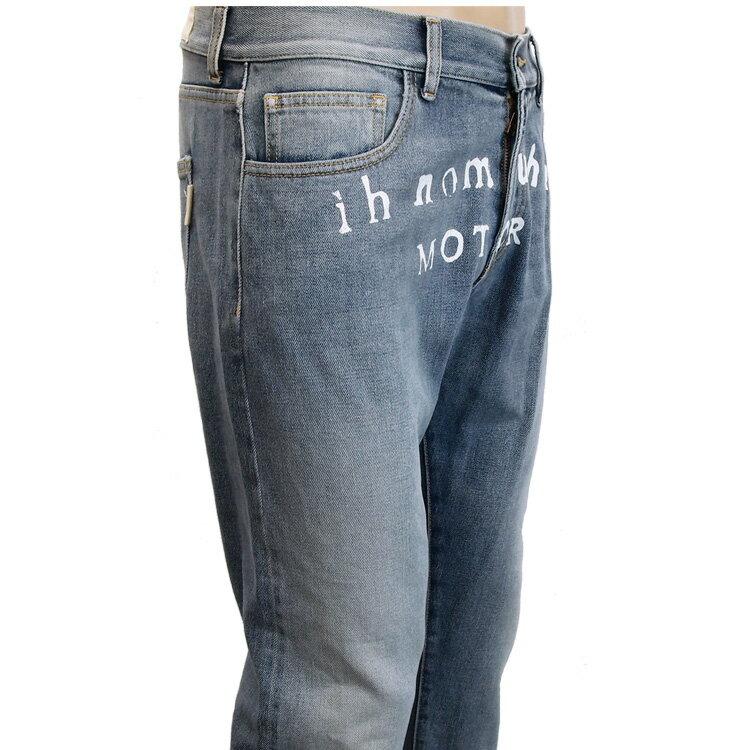 インノミネイト IH NOM UH NIT ジーンズ フロントロゴ 裾ジップ I0812-089【サマーセール】