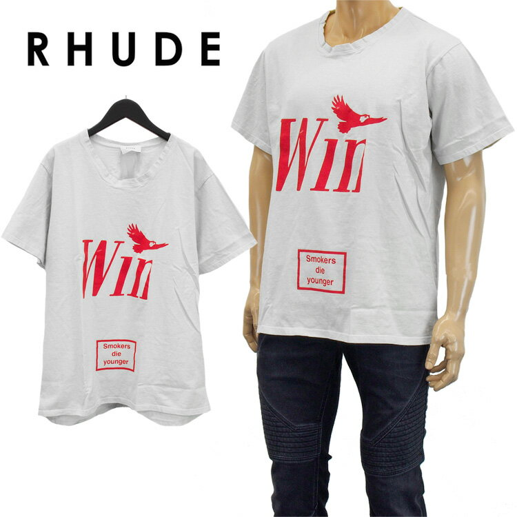トップス, Tシャツ・カットソー  RHUDE T WIN 02ATT03501-WHITE
