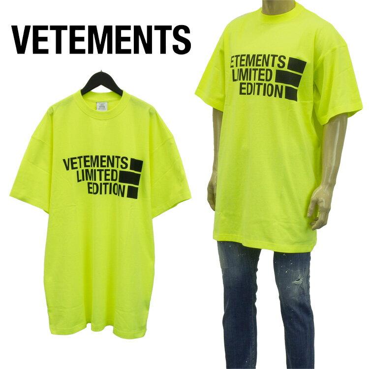 トップス, Tシャツ・カットソー  VETEMENTS BIG LOGO LIMITED EDITION T UE51TR810Y-1611-NEONYELLOWSp ringSale