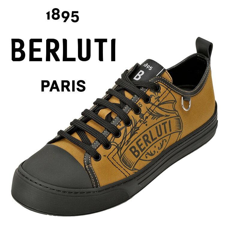 メンズ靴, スニーカー  BERLUTI S5390-001-MJ9 BEIGEBLACKAWSALE