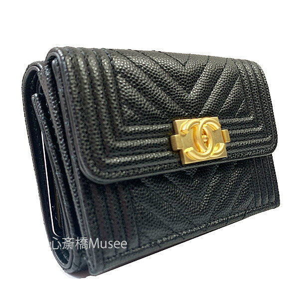 CHANEL le boy CHANEL small wallet A84432 B06291 ...