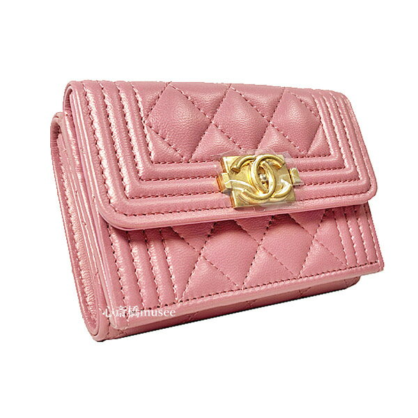 CHANEL le boy CHANEL 2020 small wallet A84432 B0...