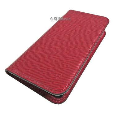 【キャッシュレス5%還元対象】≪新品≫ルイヴィトン iphone X 10 10S フォリオ モノグラム エピ フューシャ 二つ折り スマホ 携帯ケース アクセサリー モバイル M64468 箱 リボン ラッピング LOUISVUITTON モノグラム