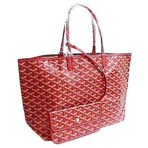 New>> Genuine GOYARD Goyal Saint Louis PM Tote Bag Red Red With paper bag and ribbon!