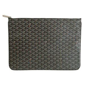 Nouveau Véritable GOYARD Goyaru Pochette Sena POCHETTE SENAT GM Black Box / Ribbon Wrapping