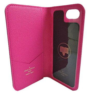 ≪新品≫ルイヴィトン iphone8・フォリオ(7にも対応) モノグラム×ピンク 二つ折り 携帯ケース アクセサリー モバイル M61906 LOUISVUITTON ビトン スマホ ケースプレゼントラッピング