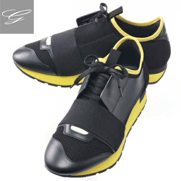 メンズ靴, スニーカー 2019AW SALE BALENCIAGA RUNNER NEROJAUNE 535391-W0YXS-1087