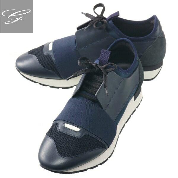 メンズ靴, スニーカー SALE BALENCIAGA RUNNER BLEU NAVY 535391-W0YXS-4100