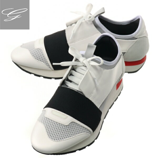 メンズ靴, スニーカー SALE BALENCIAGA RUNNER BLANCNEROGRIS 535391-W0YXS-9057