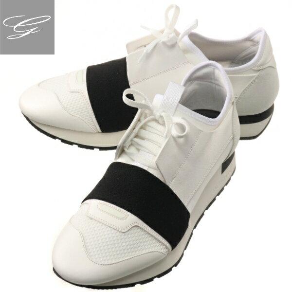 メンズ靴, スニーカー SALE BALENCIAGA RUNNER BLANC NOIR 535391-W0YXS-9061