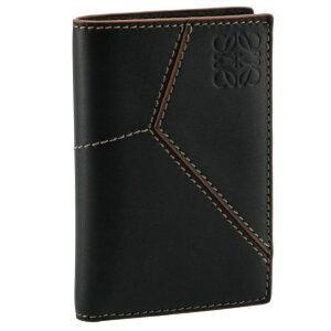 ロエベ/LOEWE 名刺入れ メンズ PUZZLE STITCHES BIFOLD CARD カードケース BLACK 2021年春夏新作 C510Z65X02-0008-1100