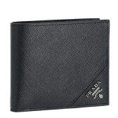 プラダ/PRADA 財布 メンズ サフィアーノメタル 2つ折り財布 ブラック 2017年春夏新作 2MO738-QME-002