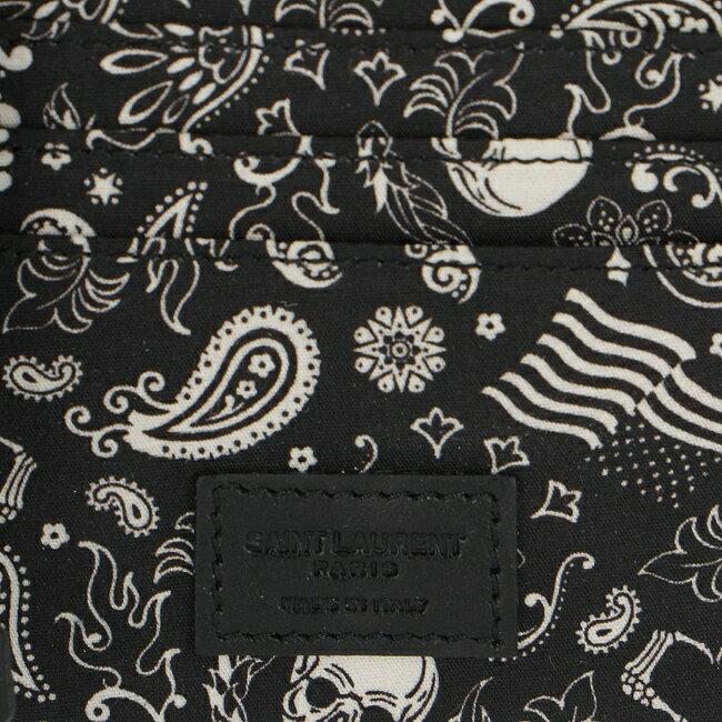 サンローランパリ/SAINT LAURENT PARIS 財布 メンズ SAINT LAURENT PARIS 2つ折り財布 NERO 2019年春夏新作 378005-0O78E-1007