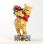 ジムショア プーさんと花束 友情の花束 くまのプーさん ディズニー 4031479 Friendship Bouquet Winnie The Pooh With Flowers Figurine JimShore □