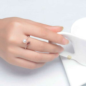 リリアナ7種類から選べる天然石ガーネットのネックレスリング指輪【ポイント最大35倍!お買い物マラソン】