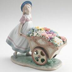 *リヤドロ可愛いお花屋さんLLADRO01006521
