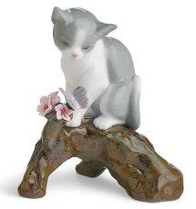 *リヤドロ桜の咲くころ-仔猫01008382LLADRO