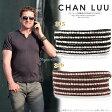 チャン・ルーCHAN LUU 正規品 メンズ シルバーナゲット 5連ラップブレスレット チャンルー 【あす楽対応】 □