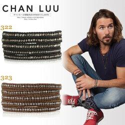 CHANLUU正規販売店メンズガンメタルナゲット5連ラップブレスレットチャンルー