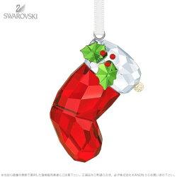 スワロフスキーサンタの靴下オーナメント5223614クリスマスSwarovskiSanta'sStockingOrnament□