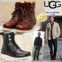 *UGG アグ メンズ HANNEN ハネン レザー ブーツ ムートンワークブーツ 3240 大きなサイズも展開(25?34.5cm) 正規輸入品 【ポイント最大36倍!ブラックフライデー】