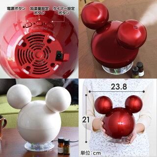 【加湿器】middlecolors(ミドルカラーズ)ディズニーシリーズ超音波式加湿器ミッキー加湿機アロマオフタイマー卓上DS-KW1501
