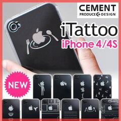 【スマホケース/iPhone4ケース/iPhone4Sケース】新柄登場!全10種【送料無料特典あり】CEMENT(セメント) iTattoo(アイタトゥー) iPhoneケース iPhone4s カバー 保護カバー 新モデル 新柄