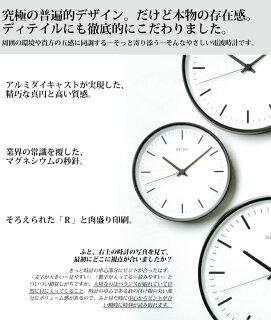 KX309スタンダードアナログクロック電波壁掛け時計セイコーパワーデザインプロジェクト