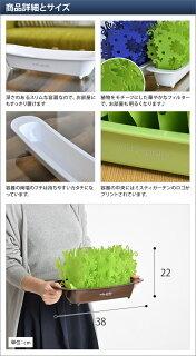 【加湿器】ミスティガーデン2nd(セカンド)エコ加湿器卓上省エネ自然気化式