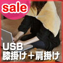 USBケーブルで使えるブランケット!37~39度の人肌に暖まり、肩掛けとしても使えます。【USBア...