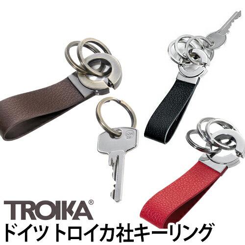 キーホルダーTROIKA(トロイカ)キーリングキークリックKEY-CLICK鍵ブランドスプリットレザー