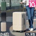 スーツケース 【ミニポーチのおまけ特典】 ハードジップキャリ...