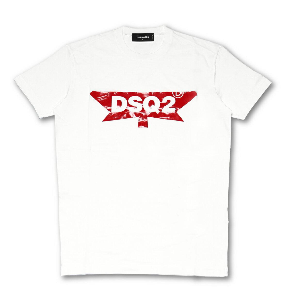 ディースクエアード DSQUARED 2 Tシャツ メンズ S74GD0357 S22427 100 半袖Tシャツ WHITE ホワイト