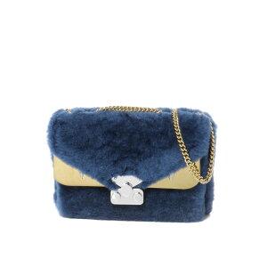 FENDI FENDI حقيبة سيدات 8BT310 A86P F184X حقيبة كتف حقيبة صغيرة حقيبة البق البق COBALTO + T.MR + OS أزرق