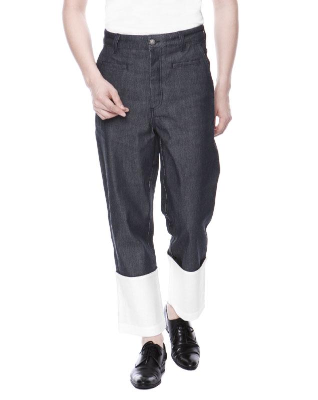 ロエベ LOEWE パンツ メンズ H2262111IB 5110 ジーンズ FISHERMAN フィッシャーマン NAVY BLU ダークブルー:インポートショップ DOUBLE
