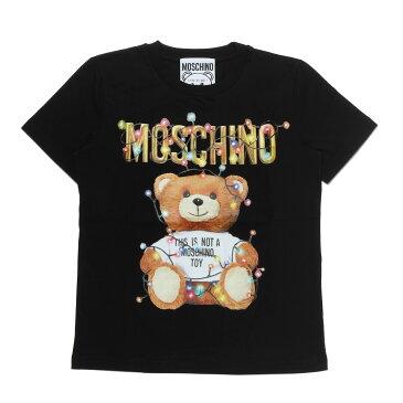 モスキーノ MOSCHINO Tシャツ レディース 0798 4040 1555 半袖Tシャツ BLACK ブラック