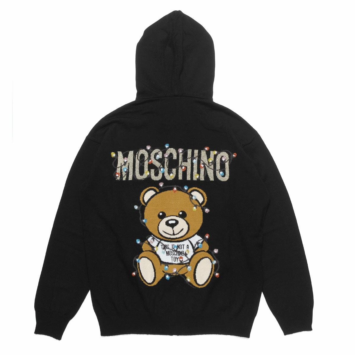 ニット・セーター, ニットパーカー  MOSCHINO 0901 4100 1555 BLACK