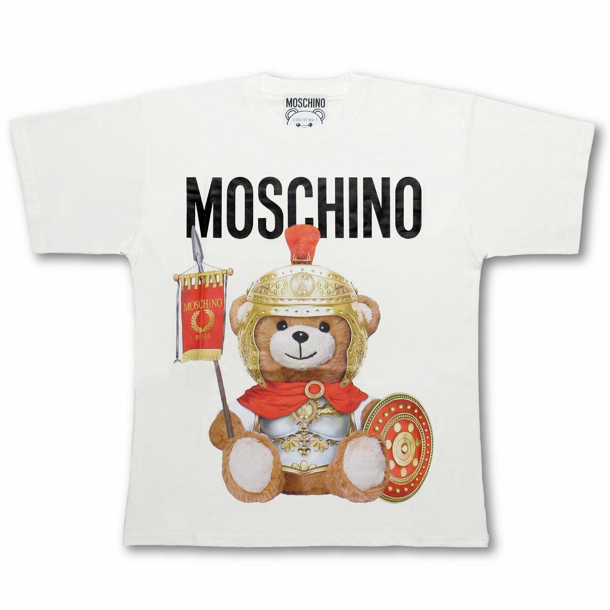 トップス, Tシャツ・カットソー  MOSCHINO T 0703 5540 1002 T WHITE