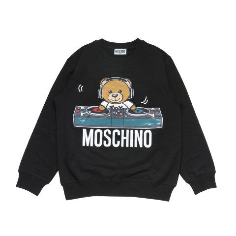 モスキーノ MOSCHINO スウェット キッズ ボーイズ HNF02H LDA17 60100 長袖スウェット BLACK ブラック10A-14A