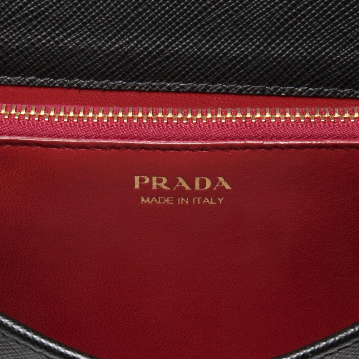 プラダ PRADA バッグ レディース 1BP006 NZV F0002 ショルダー付 クラッチバッグ NERO ブラック